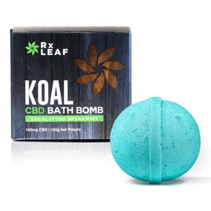 koal cbd bath bomb eucalyptus